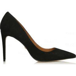 Buty ślubne damskie: Czarne czółenka damskie
