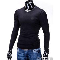 Swetry klasyczne męskie: SWETER MĘSKI E74 - CZARNY