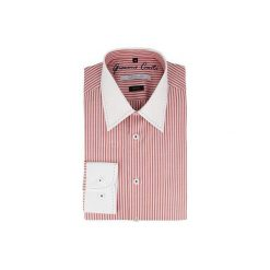 Koszula ARMANDO 14-08-33. Białe koszule męskie na spinki Giacomo Conti, m, w prążki, z bawełny, z klasycznym kołnierzykiem, z długim rękawem. Za 229,00 zł.