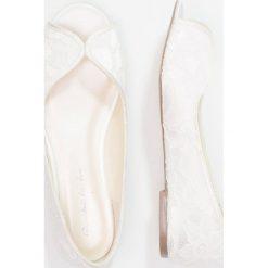 Baleriny damskie lakierowane: Paradox London Pink ASHA Baleriny Peep Toe ivory