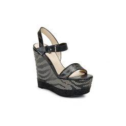Sandały Roberto Cavalli  TPS882. Czarne sandały trekkingowe damskie marki Roberto Cavalli. Za 2479,20 zł.