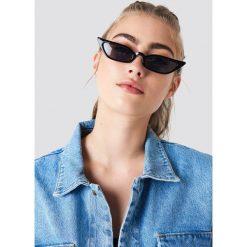 Okulary przeciwsłoneczne damskie: NA-KD Trend Okulary przeciwsłoneczne retro – Black