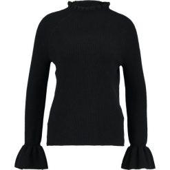 Swetry klasyczne damskie: Banana Republic RUFFLE SLEEVE TURTLENECK COSY Sweter black