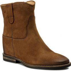Botki CARINII - B4125 I44-000-PSK-B89. Brązowe buty zimowe damskie Carinii, z materiału. W wyprzedaży za 209,00 zł.