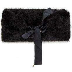 Szal PATRIZIA PEPE - 2V8129/A1RM-K338 Soft Black. Czarne szaliki damskie marki Patrizia Pepe, ze skóry. W wyprzedaży za 449,00 zł.