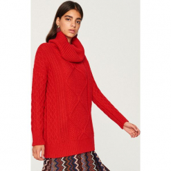 Sweter z golfem - Czerwony. Czerwone golfy damskie Reserved, l. Za 139,99 zł.