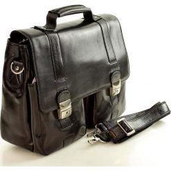Luksusowa teczka skórzana z kieszeniami na laptop FERUDINI MAXUS czarna. Czarne aktówki męskie marki Vera Pelle, ze skóry. Za 889,00 zł.