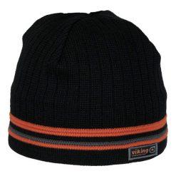 Czapki męskie: Viking Czapka męska Windstopper® 8627 czarno – pomarańczowa (215/11/8627)