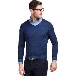 Sweter MARTINO SWG000001. Czarne swetry klasyczne męskie marki Giacomo Conti, m, z bawełny, z klasycznym kołnierzykiem. Za 229,00 zł.