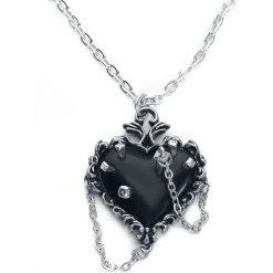 Alchemy Gothic Witches Heart Naszyjnik srebrny. Szare naszyjniki damskie Alchemy Gothic, srebrne. Za 121,90 zł.