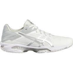 ASICS GELSOLUTION SPEED 3 Obuwie do tenisa Outdoor white/silver. Białe buty do tenisu damskie Asics. W wyprzedaży za 495,20 zł.