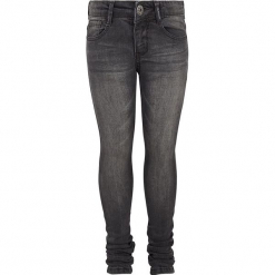 Dżinsy - Super slim fit - w kolorze szarym. Szare jeansy dziewczęce Retour Denim de Luxe, ze skóry. W wyprzedaży za 105,95 zł.