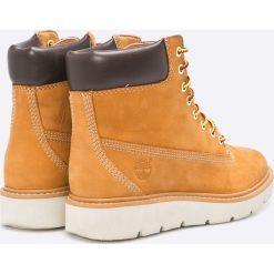 Timberland - Botki Kenniston 6IN Lace Up. Szare buty zimowe damskie Timberland, z materiału, na obcasie, na sznurówki. W wyprzedaży za 459,90 zł.