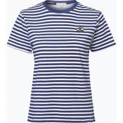 Marie Lund - T-shirt damski, niebieski. Niebieskie t-shirty damskie Marie Lund, m, z aplikacjami, z klasycznym kołnierzykiem. Za 59,95 zł.