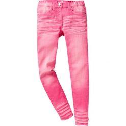 """Spodnie SKINNY """"used"""" bonprix różowy flaming. Czerwone rurki dziewczęce bonprix. Za 44,99 zł."""