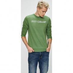 Blend - Bluza. Zielone bejsbolówki męskie Blend, l, z nadrukiem, z bawełny, bez kaptura. W wyprzedaży za 89,90 zł.