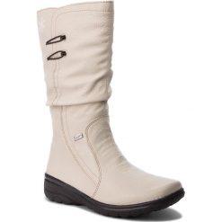 Kozaki RIEKER - Z7072-60 Beige. Czarne buty zimowe damskie marki Rieker, z materiału. Za 329,00 zł.