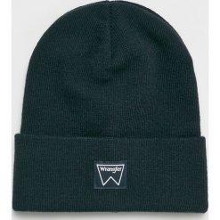 Wrangler - Czapka. Czarne czapki zimowe męskie Wrangler, na zimę, z dzianiny. Za 79,90 zł.