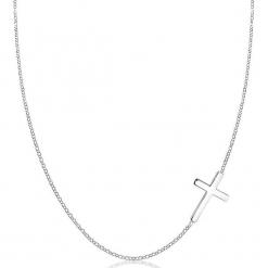 Srebrny naszyjnik z elementem ozdobnym - dł. 45 cm. Żółte naszyjniki damskie marki METROPOLITAN, pozłacane. W wyprzedaży za 77,95 zł.