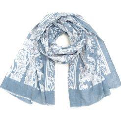 Szaliki damskie: Art of Polo Szal damski Romantyczna flora niebieski