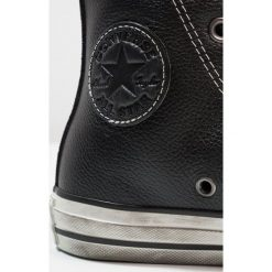 Trampki męskie: Converse CHUCK TAYLOR ALL STAR HI LEATHER/SUEDE DISTRESSED Tenisówki i Trampki wysokie black/white dust