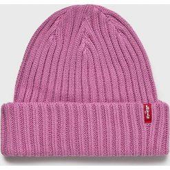 Levi's - Czapka. Brązowe czapki zimowe damskie Levi's®, z bawełny. Za 119,90 zł.