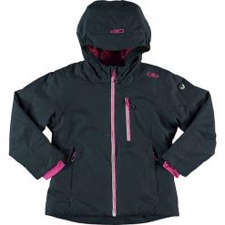 Kurtka narciarska w kolorze szaroniebiesko-różowym. Niebieskie kurtki dziewczęce przeciwdeszczowe marki CMP Kids, z materiału. W wyprzedaży za 215,95 zł.