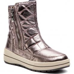 Śniegowce CAPRICE - 9-26454-21 Rose Metallic 510. Żółte buty zimowe damskie Caprice, ze skóry ekologicznej. W wyprzedaży za 199,00 zł.