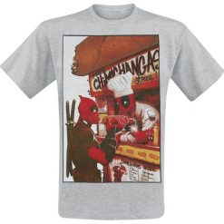 T-shirty męskie: Deadpool Free Chimichangas T-Shirt odcienie szarego