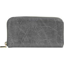 """Portfele damskie: Skórzany portfel """"Apolline"""" w kolorze szarym – 20 x 11 x 2,5 cm"""