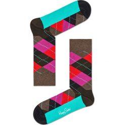 Happy Socks - Skarpety Argyle. Czarne skarpetki męskie Happy Socks, z bawełny. W wyprzedaży za 29,90 zł.