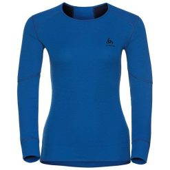 Odlo Koszulka l/s crew neck X-WARM niebieska r. XL (155161). Niebieskie topy sportowe damskie Odlo, l. Za 229,95 zł.