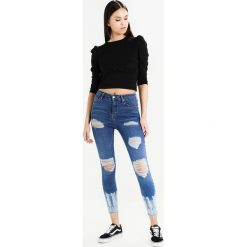 Topshop TIE DYE JAMIE RIP Jeans Skinny Fit blue. Niebieskie jeansy damskie marki Topshop, z bawełny. W wyprzedaży za 134,50 zł.