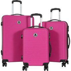 Walizki: Zestaw walizek w kolorze różowym – 3 szt.