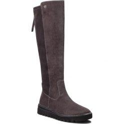 Kozaki TAMARIS - 1-25601-21 Anthracite 214. Szare buty zimowe damskie Tamaris, z materiału, przed kolano, na wysokim obcasie. Za 319,90 zł.
