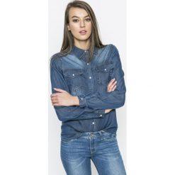 Vila - Koszula. Szare koszule jeansowe damskie marki Vila, l, casualowe, z klasycznym kołnierzykiem, z długim rękawem. W wyprzedaży za 89,90 zł.