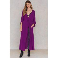 Długie sukienki: NA-KD Boho Sukienka-płaszcz - Purple