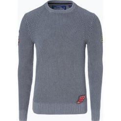 Superdry - Sweter męski, niebieski. Niebieskie swetry klasyczne męskie Superdry, l, z aplikacjami, z dzianiny. Za 329,95 zł.