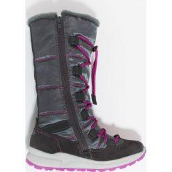 Superfit MERIDA Śniegowce charcoal. Szare buty zimowe damskie marki Superfit, z materiału. W wyprzedaży za 367,20 zł.