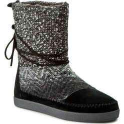 Botki damskie lity: Buty TOMS - Nepal 10008964 Black Suede/Textile