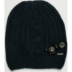 Liu Jo - Czapka. Czarne czapki damskie Liu Jo, na zimę, z dzianiny. Za 219,90 zł.