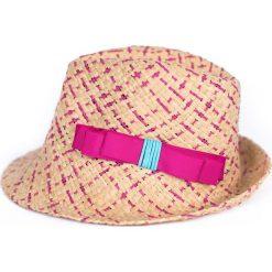 Kapelusz damski Lato w kolorach brązowo różowy. Brązowe kapelusze damskie Art of Polo, na lato. Za 49,91 zł.