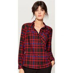 Koszula w kratę - Czerwony. Czerwone koszule damskie marki Mohito, z bawełny. Za 99,99 zł.