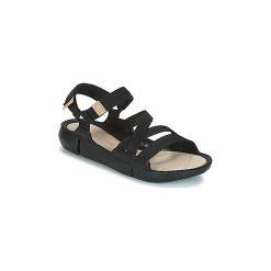 Sandały Clarks  TRI SIENNA. Czarne sandały damskie marki Clarks, z materiału. Za 329,30 zł.