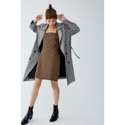 Sukienka w kratkę vichy. Czarne sukienki Pull&Bear, w kratkę. Za 79,90 zł.