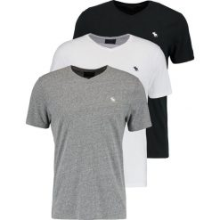 T-shirty męskie: Abercrombie & Fitch VNECK 3 PACK Tshirt basic white/black/grey