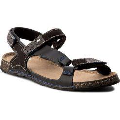 Sandały NIK - 06-0163-00-0-01-00 Czarny. Czarne sandały męskie skórzane Nik. W wyprzedaży za 159,00 zł.