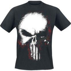 The Punisher Shattered Skull T-Shirt czarny. Niebieskie t-shirty męskie z nadrukiem marki Reserved, l, z okrągłym kołnierzem. Za 74,90 zł.