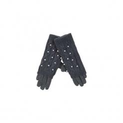 Rękawiczki damskie standardowe z perłami. Szare rękawiczki damskie TXM. Za 19,99 zł.