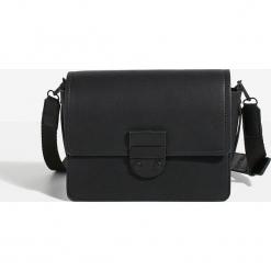 Parfois - Torebka. Czarne torebki klasyczne damskie Parfois, w paski, z materiału, średnie. Za 119,90 zł.